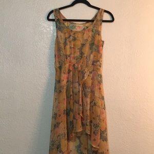 LF Millau high low sheer floral dress 🌼